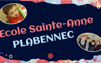 Pour découvrir l'école : https://view.genial.ly/60a2e110bb91440d0e04a13f/presentation-copie-ecole-sainte-anne-plabennec
